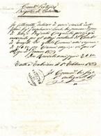 CARABINIERI PONTIFICI - BRIGATA DI FABRIANO - 1.2.1833 - POST MOTI RIVOLUZIONARI 1831. - Italia