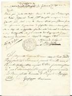CARABINIERI PONTIFICI - BRIGATA DI FABRIANO - 1.5.1836 - NUOVO BOLLO. - Italia