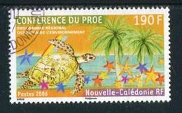 """TIMBRE Oblit. De 2006 """"190 F - Conférence Du PROE -Tortue Marine, Etoiles De Mer, Palmiers"""" - Neukaledonien"""