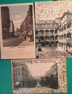 3 CPA, Stuttgart, Tübingerstrasse, Uhlanstrasse, Alter Schlosshof, écrites En 1902,1903, 1907, Timbres - Stuttgart