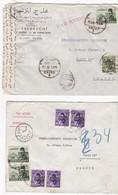 Egypte - 3 Lettres Par Avion Censurées Pour La France En 1953 - Egypt
