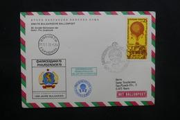 BULGARIE - Enveloppe Par Ballon En 1979, Affranchissement Et Cachets Plaisants - L 36750 - Cartas