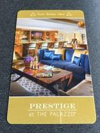 Hotelkarte Room Key Keycard Clef De Hotel Tarjeta Hotel  LAS VEGAS  THE PALAZZO PRESTIGE - Telefonkarten