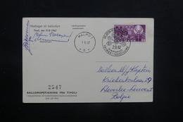 DANEMARK - Carte Par Ballon En 1962, Affranchissement Et Cachets Plaisants - L 36752 - Danimarca