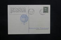 NORVÈGE - Carte Postale Par Ballon En 1963, Affranchissement  Et Cachets Plaisants - L 36755 - Brieven En Documenten