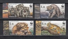 Tadschikistan 2017 MNH** Mi.Nr. 755-758 A Manul WWF Set - Tadschikistan