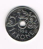 //  NOORWEGEN  1 KRONE 1998 - Norvège