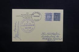 NORVÈGE - Carte Postale Par Ballon En 1970, Affranchissement  Et Cachets Plaisants - L 36757 - Brieven En Documenten