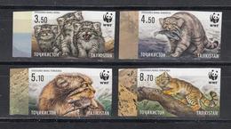 Tadschikistan 2017 MNH** Mi.Nr. 755-758 B Manul WWF Set Impeforated - Tadschikistan