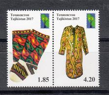 Tadschikistan 2017 MNH** Mi.Nr. 759-760 Zd A RCC. Folk Crafts Of Tajikistan - Tadschikistan