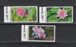 Tadschikistan 2017 MNH** Mi.Nr. 764-766 A Flowers - Tadschikistan