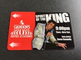 Hotelkarte Room Key Keycard Clef De Hotel Tarjeta Hotel  LAS VEGAS  4 QUEENS ELVIS ARTIST - Télécartes