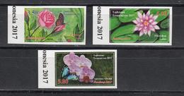 Tadschikistan 2017 MNH** Mi.Nr. 764-766 B Flowers Imperforated - Tadschikistan