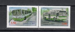 Tadschikistan 2017 MNH** Mi.Nr. 775-76 Zd A City Transport - Tadschikistan