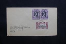 SIERRA LEONE - Enveloppe De Freetown Pour La France En 1953 , Affranchissement Plaisant - L 36764 - Sierra Leone (...-1960)