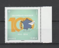 FRANCE / 2018 / Y&T N° 5274 ** : Centenaire Des Chèques Postaux BdF D - Gomme D'origine Intacte - France