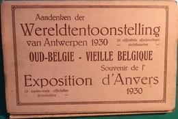 10 CPA, Vues, EXPOSITION D'ANVERS 1930, Oud Belgie, Vieille Belgique, édition M Polié - Expositions