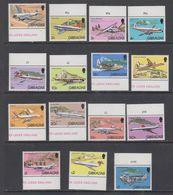 Gibraltar 1982 Airplanes / Definitives 15v  (+margin) ** Mnh (43907) - Gibraltar