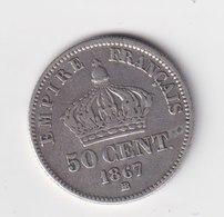 50 Centimes NAPOLÉON III 1867 BB - Francia