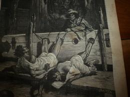 1882 JDV: Supplice Des Indiens Par Espagnols;Bohémiens Et Tatars;Dépt De La SEINE; Les Tribus GAYOS;etc - Kranten