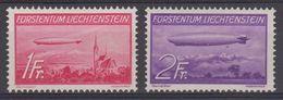 Liechtenstein 1936 Airmail / Zeppelin 2v ** Mnh (43909) - Luchtpostzegels