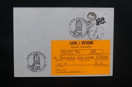 BELGIQUE - Oblitération Temporaire De Seneffe Sur Enveloppe Pour Un Soldat En Mission En 1996 - A Voir - L 36778 - Cartas