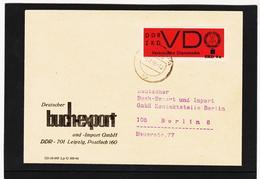 OCT344 DDR 1968 DIENSTSACHE-BUCHEXPORT ZKD VD 3 AD 4a BRIEF SIEHE ABBILDUNG - Service