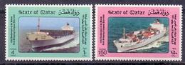 1986 QATAR Arab Shipping Company  Complete Set 2 Values MNH - Qatar