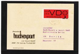OCT347 DDR 1968 DIENSTSACHE-BUCHEXPORT ZKD VD 3 U GESCNITTEN AD 4a SELTENER BRIEF SIEHE ABBILDUNG - Service