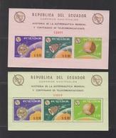 EQUATEUR-BLOCS ASTRONAUTIQUE.CENTENAIRE DE L' U.I.T.** - Equateur