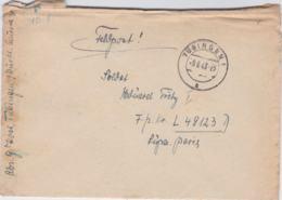 German Feldpost WW2: To Caen, France - Stab II Flieger-Regiment 90 FP L49123D LGPA Paris P/m Tübingen - Militaria
