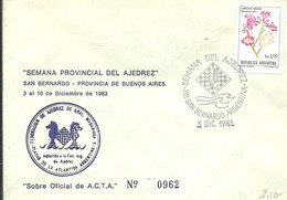 POSTMARKET 1983 ARGENTINA - Ajedrez