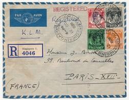MALAISIE - Deux Enveloppes - 1 Recommandée De Singapour Vers Paris - 1 Simple Affr B.M.A. MALAYA - 1938 - Grande-Bretagne (ex-colonies & Protectorats)