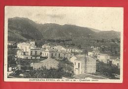 PS88---ZAFFERANA ETNEA ( CT ), QUARTIERE NUOVO ---CARTOLINA VIAGGIATA 1936 ----2 SCANS - Catania