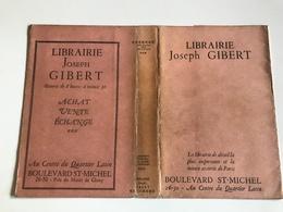 Protege Livre - Librairie Joseph GIBERT - PARIS Bd St Michel - Vloeipapier