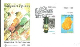FDC ESPAÑA 1996 - Minerales