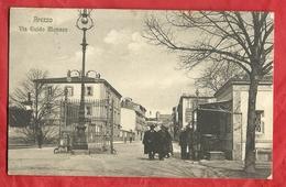 PS88---AREZZO, VIA GUIDO MONACO ----CARTOLINA VIAGGIATA 1912-------2 SCANS - Arezzo