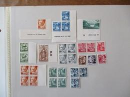 29TIMBRES RHEINLAND-PFALZ DONT 2 GEDRUCKT AM 18. AUGUST 1948 ET 3.10.1947 - French Zone