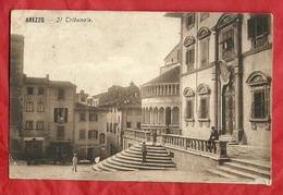 PS88---AREZZO, VIA GUIDO MONACO ----CARTOLINA VIAGGIATA 1911-------2 SCANS - Arezzo