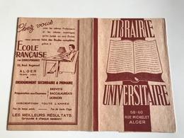 Protege Livre - Librairie UNIVERSITAIRE / TATY  - ALGER Rue Michelet / Rue Sadi Carnot - Vloeipapier