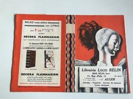 Protege Livre - Librairie LOUIS RÉLIN / DECORA FLAMMARION - ALGER Rue D'Isly - Vloeipapier