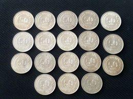 Vintage !  1967-1984 Complete Set Of 18 Pcs. Singapore 50 Cents Lion Fish Coins (SC-83) - Singapur