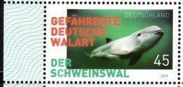 GERMANY, 2019, MNH, MARINE LIFE, PORPOISES, 1v - Whales