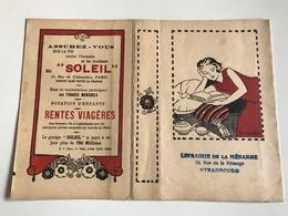 Protege Livre - Assurance SOLEIL / Librairie De La MESANGE - STRASBOURG Rue De La Mesange - Vloeipapier