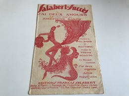 Partition 1930 - J'ai Deux Amours - Josephine Baker - Noten & Partituren