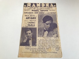 Partition 1928 - Ramona Waltz Song - Villemetz / Wayne - Partituren