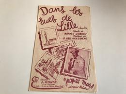 Partition 1956 - Dans Les Rues Des Lille - Dubier / Von Heesbeke - Noten & Partituren