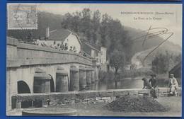 ROCHES-SUR-ROGNON      Le Pont Et Le Coteau   Animées       écrite En 1904 - Frankreich
