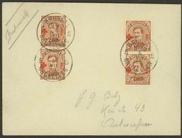 Enveloppe De 1919 Avec 4 X Nr 151 De Bruxelles Vers Anvers + V Voir Scans - 1918 Rotes Kreuz