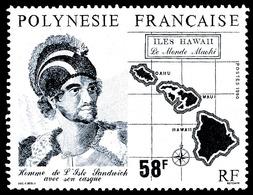 POLYNESIE 1990 - Yv. 354 **   Cote= 3,10 EUR - Le Monde Mahori: Iles Hawaï  ..Réf.POL24011 - Polynésie Française